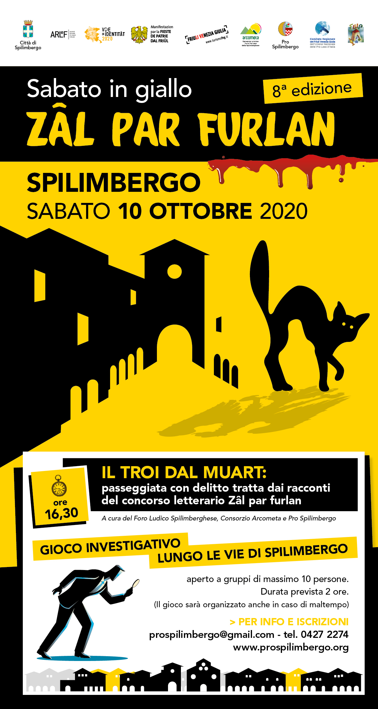 Locandina sabato in giallo Il Troi dal muart web